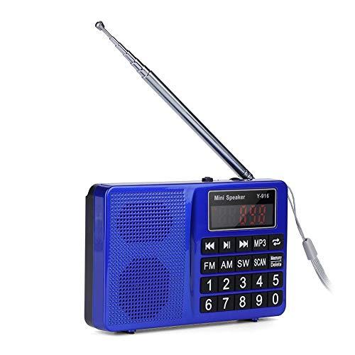 ASHATA Portable AM FM SW Radio, FM/AM Radio with Large LCD D