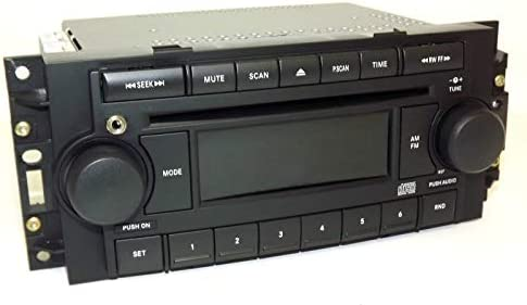 04-10 Chrysler AM FM CD Upgraded w Aux Input for iPhone Android REF P05091710AE Renewed