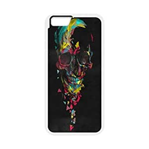 Broken On Behance Colorful Skull Case Cover For Apple Iphone 6 Plus 5.5 Inch Design Case Cover For Apple Iphone 6 Plus 5.5 Inch Cute {White}