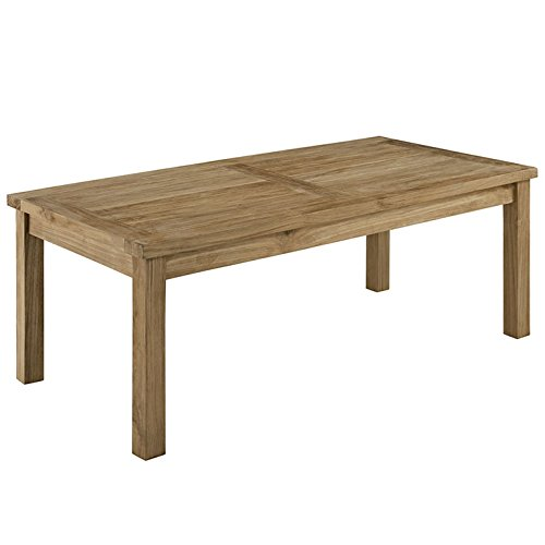 Natural Marina Outdoor Patio Teak Rectangle Coffee Table