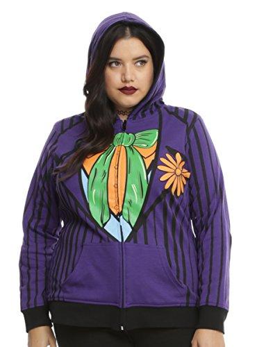 DC Comics Harley Quinn & The Joker Reversible Hoodie Plus Size (Plus Size Harley Quinn Dress)