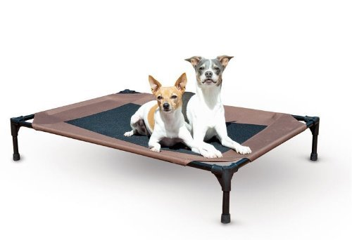 Waterproof Outdoor Dog Bed Cot with Elevated/Raised Mesh Design (Large - 30L x 42W x 7H) by K&H Manufacturing -  K&H Pet Products, 8037046