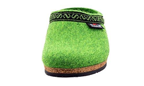 Stegmann Women's Wool Felt Clog with Cork Sole Lime Green