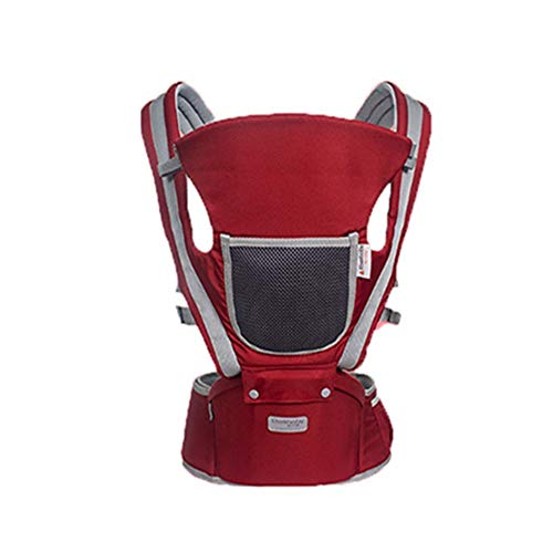 QIQI Baby Sling Four Seasons Universal Waist Stool Multi-Function Baby Carrier,red