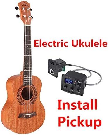 Ukelele rama de olivo de 26 pulgadas, caoba, guitarra acústica ...