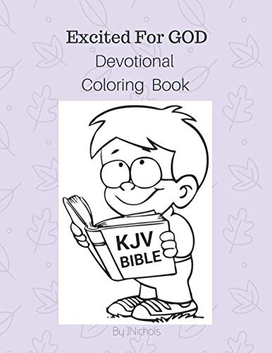 Excited For GOD Devotional Coloring Book -