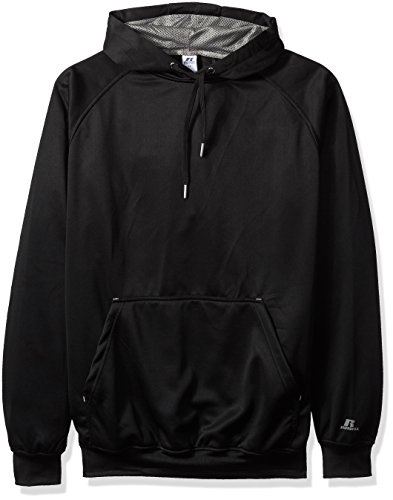 Russell Athletic Mens Big and Tall Po Poly Flece Hd W/Contrast Liner Logo On Sleeve