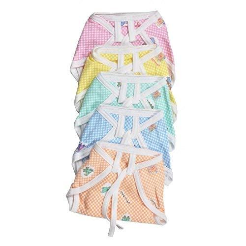 RBC RIYA R Newborn Baby Hosiery Cotton Cloth Nappies Pack of 24 pcs (Multi) (0-6 Months)