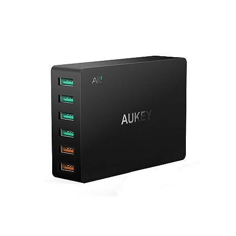 AUKEY Cargador USB Pared PA-T11 6PTOS (4+2 RAPIDO): Amazon ...