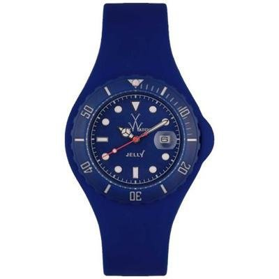 Swiss Legend Jelly JY07BL 44mm Rubber Case Blue Rubber Mineral Men's Watch