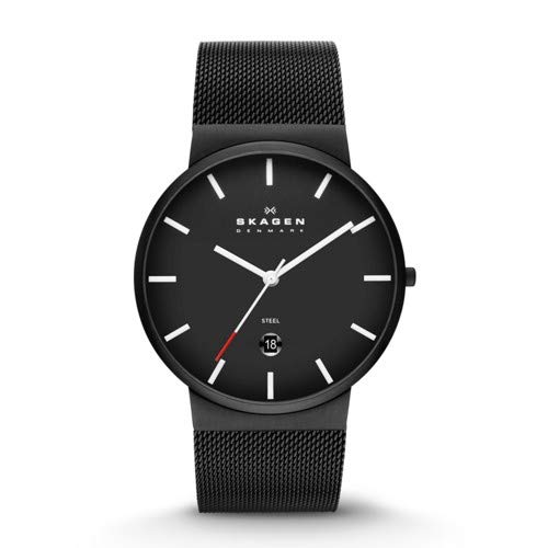 Skagen Men's SKW6053 Ancher Analog Quartz Black Stainless Steel Watch