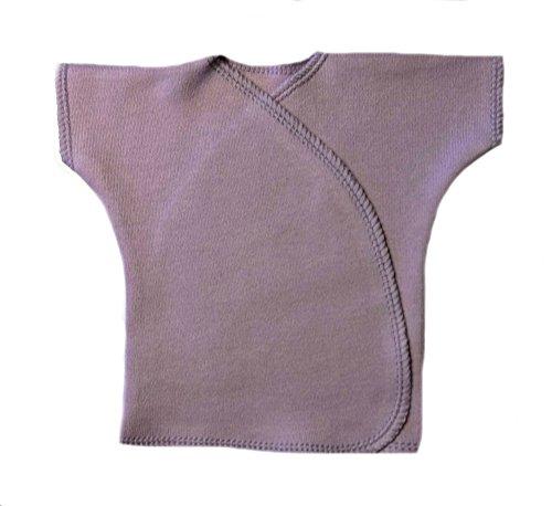Jacqui's Unisex Baby Lavender Short Sleeve Kimono T-Shirt, Newborn