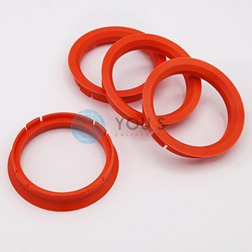 4 X ANELLI DI CENTRAGGIO ANELLO DISTANZIALE PER CERCHI IN ALLUMIO Z13 70, 0 - 60, 1 mm alluminio Tec Venetico rial You.S