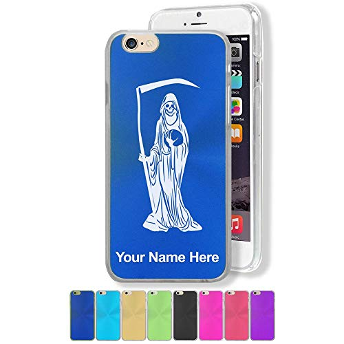 Case Compatible with iPhone 6 Plus and iPhone 6s Plus, Santa Muerte, Personalized Engraving Included (Muerte Iphone Case Santa 6)