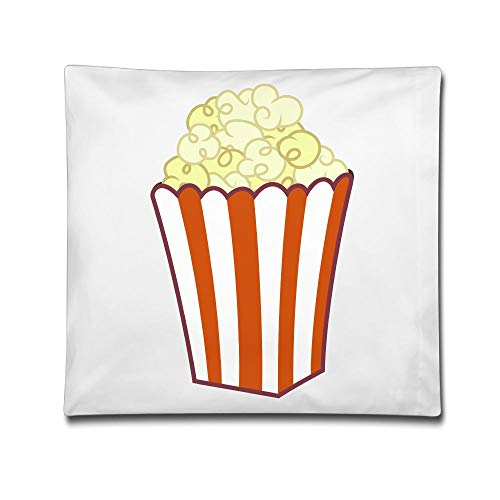 Kjaoi 1818 Inches Pillow Case Popcorn Art Comfortable Soft Bed Pillow Case Household Pillow Case Office Bolster ()