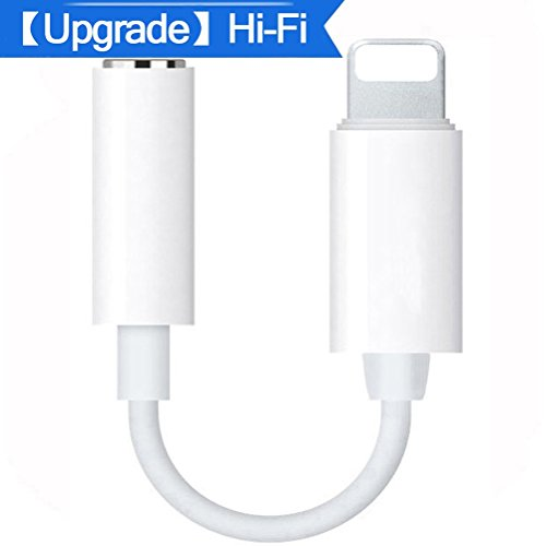 Lightning Jack Adapter for Lightning to 3.5mm Headset Aux Adaptor for iPhone 7/7plus iPhone 8/8plus iPhoneX Headphone Audio Adapter iPhone Dongle splitter Earphone Jack Support Newest iOS Systerm by CHOOBY