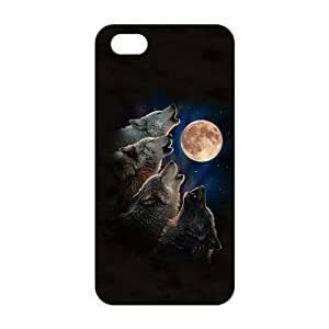 Fortune Wolf and moon 3D Phone Case For HTC One M8 Cover