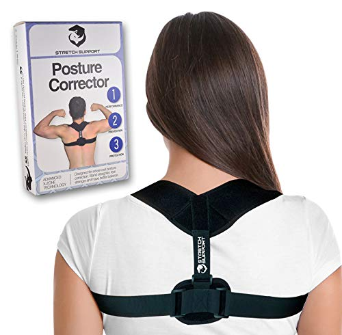 Stretch Support Posture Corrector for Back Pain Relief, Physical Therapy Posture Brace for Women and Men, Train Your Posture
