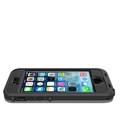 LifeProof NÜÜD SERIES Waterproof Case for iPhone 5/5s/SE - Retail Packaging - BLACK (BLACK/SMOKE) by LifeProof (Image #6)