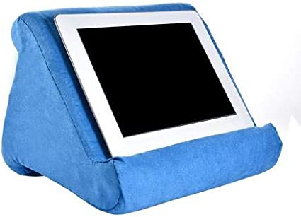 cuscino per casa supporto per tablet e divano blu marino Supporto per tablet e libri morbido supporto per lettura divano letto multi-angolo