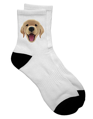 Retriever Mens Shorts - TooLoud Cute Golden Retriever Puppy Face Adult Short Socks Ladies 6-9 or Mens 6-8