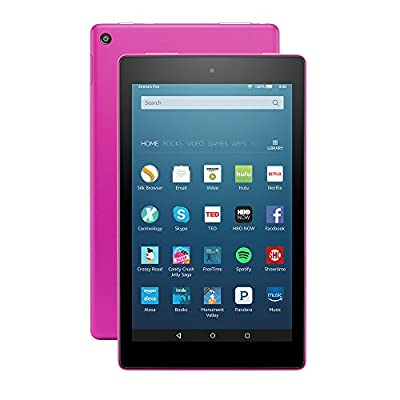 "Fire HD 8 Tablet with Alexa, 8"" HD Display, 32 GB, Magenta - with Special Offers"
