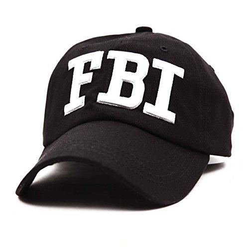 REINDEAR Unisex FBI Law Enforcement Adiustable Hat Baseball Cap US Seller (Black)