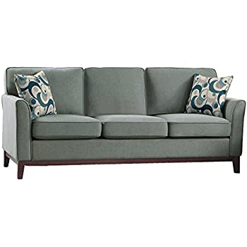 Amazon Com Homelegance 9806gry 3 Accent Pillows And Wood