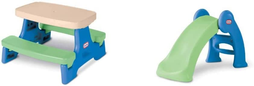 Little Tikes Easy Store Jr. Play Table [Amazon Exclusive] & Junior Play Slide