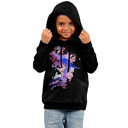 LuckykidHoodies Volleyballer Player Volleyball Younger Vintage Fashion Casual No Pockets Unisex Pullover Jacket