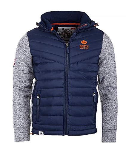 Hood Focus Bimateriale L 2 Small nbsp;x Blu Northvalley Jacket Uomo wHSqPZt