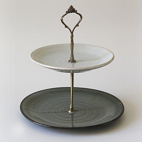 Ceramic Two Tier Cupcake Stand & Amazon.com: Ceramic Two Tier Cupcake Stand: Handmade