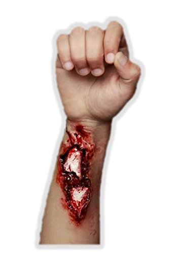 Ghoulish Productions Broken Bone Arm Latex Appliance Compound Fracture Halloween Prosthetic Make-up ()