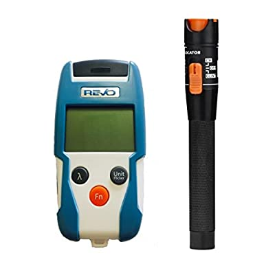 Fiber Optic Testing Tool Kit FTTH Optical Power Meter Range -50 dBm ~ +26 dBm, Handheld and Compact and Visual Fault Locator 10mW Red Light Kit