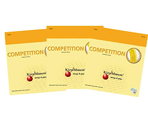 Kirschbaum Competition Savers Pack X3 Sets Competition 130/16G Tennis String -Yellow
