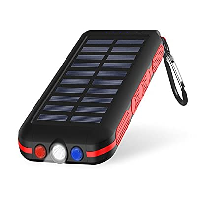 Portable Charger Power Bank Solar Charger 25000Mah Waterproof Batter Pack For iPhone, iPad & Samsung Galaxy & More by CXLIY