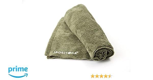 Jade Yoga Towel Yoga Microfiber Olive Green 14In X 24In, 1 Each