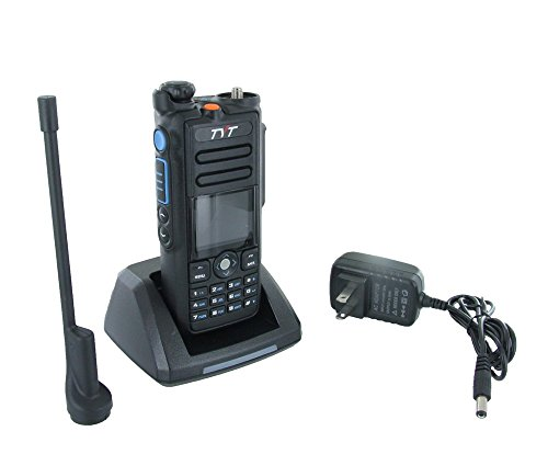 TYT MD-2017 Dual Band Tier I & II DMR/Analog Radio 136-174MHz & 400-480MHz, Up to 3000 Channels, Color Display, with Programming Cable and Software. Ship from USA Only by TYT