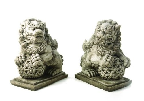 Stunning Pair Of Large Solid Cast Foo Dogs Garden Statue Ornaments   Buy  Online In UAE. | Outdoors Products In The UAE   See Prices, Reviews And  Free ...