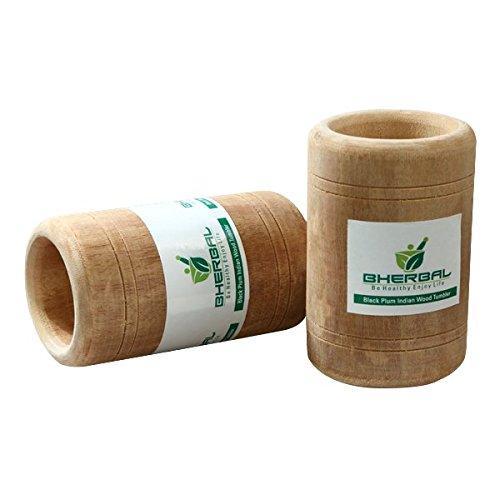 Diabetic Jamun Indian Blackberry Herbal Wood Glass Tumbler Ayurvedic Natural by B-Herbal