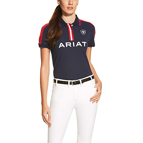 ARIAT Womens New Team Polo Navy Size Small