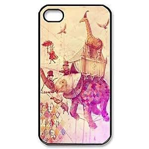 Elephant Art Design Pattern Plastic Hard Case for iPhone 4/4S