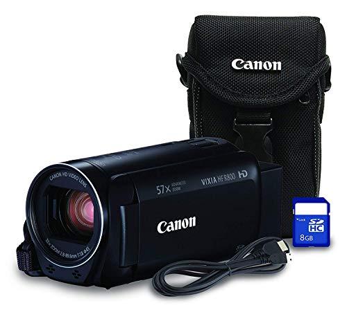 Canon HF R800 Bundle HD Recording Portable Traditional Video Camera, Black (Canon Vixia Hf R800 Vs Sony Cx405)