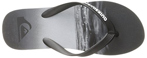 Quiksilver Mens Molokai Hold Down Sandal Black/Grey/Grey 8d6Gs8