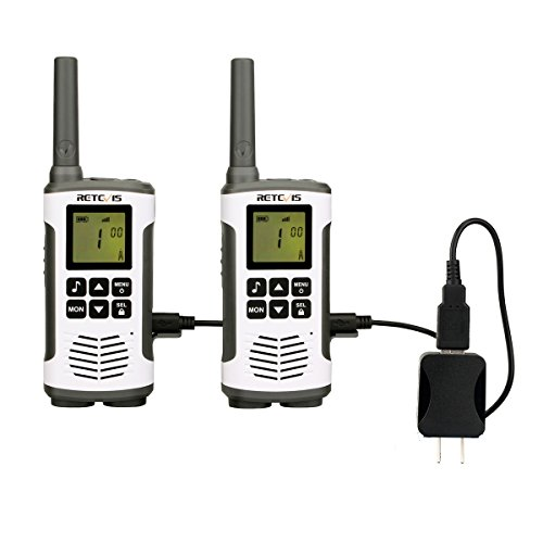 Retevis RT45 Walkie Talkies 22 Channel Private Codes Baby Monitor License-Free Rechargeable 2 Way Radios(Twin Packs) by Retevis