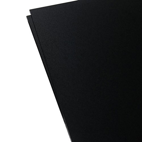 "Plastics 2000 - KYDEX Sheet - 0.080"" Thick, Black, 8"" x 12"", 2 PACK"