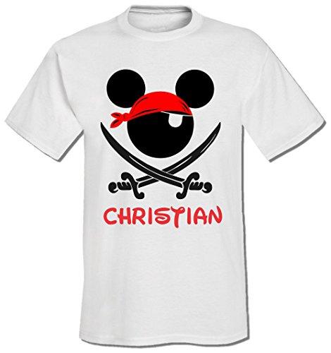 Custom Pirate Night Mickey Disney Cruise Tee (Large, ()