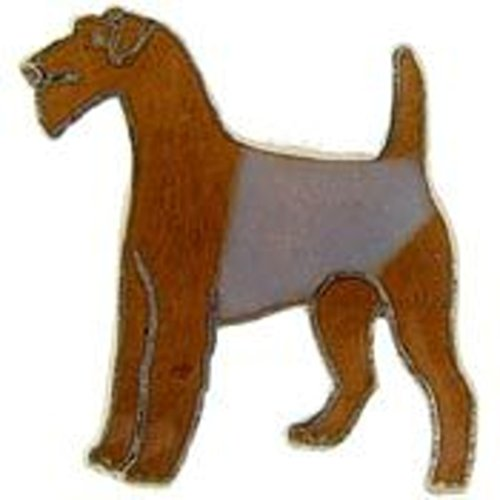 EagleEmblems P00315 Pin-Dog,Airedale (1'')