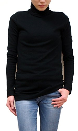 重さモディッシュ胚harmonie (アルモニ オーガニックコットン) レディース カットソー タートルネック 杢フライス無地 オーガニックコットン100% フリーサイズ