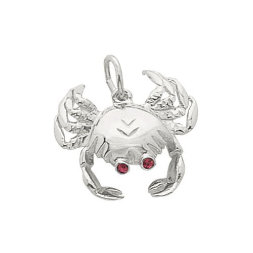 Rembrandt Charms Crab Charm with Lobster Clasp, Sterling Silver (Sterling Silver Crab Charm)